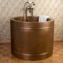 Japanilainen kylpyamme GemLook 277035, 225 l, 109 x 86cm, kupari