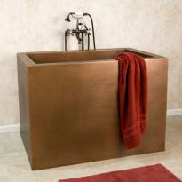 Japanilainen kylpyamme GemLook 295455, 250 l, 122 x 81 x 86cm, kupari