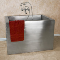 Japanilainen kylpyamme GemLook 295464, 250 l, 122 x 81 x 86cm, teräs