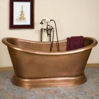 Kylpyamme GemLook 295740, 320 l, 167 x 81 x 68cm, kupari