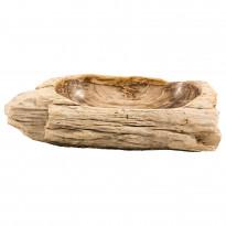 Pesuallas GemLook GL 154, kivettyneestä puusta, tasolle asennettava, ei hananreikää, 78x42x21 cm