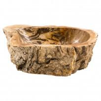Pesuallas GemLook GL 184, kivettyneestä puusta, tasolle asennettava, ei hananreikää, 47 x 32 x 14 cm