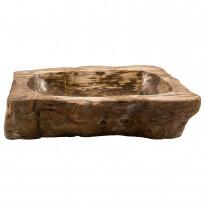 Pesuallas GemLook GL 186, kivettyneestä puusta, tasolle asennettava, ei hananreikää, 63 x 40 x 14 cm