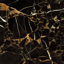 Lattialaatta GoldenTile Saint-Laurent, 60.7x60.7cm, musta