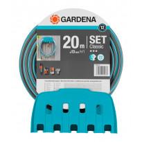 Puutarhaletku Gardena Classic, 13mm, 20m + teline ja liittimet