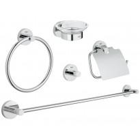 Kylpyhuonetarvikesetti Grohe Essentials, 5 osaa