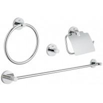Kylpyhuonetarvikesetti Grohe Essentials, 4 osaa