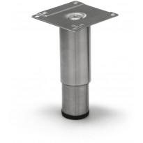 Kalustejalka Grip Rim, 80-130mm, harjattu ruostumaton teräs