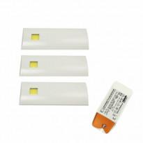 LED-valosarja Grip D´lau valkoinen 3-osainen