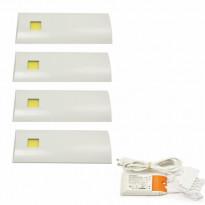 LED-valosarja Grip D´lau valkoinen 4-osainen