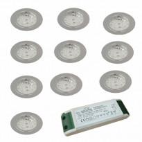LED-valosarja Grip Slim kromi 10-osainen
