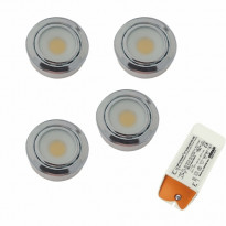 LED-valosarja Grip Flat Eco kromi 4-osainen