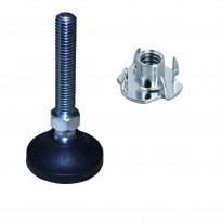 Säätötassusarja Grip M10x60 4 kpl+M10 lyöntimutteri 4 kpl