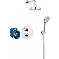 Sadesuihkusetti Grohe Grohtherm 3000 Cosmopolitan + Rainshower 160, termostaattihanalla, piiloasennus