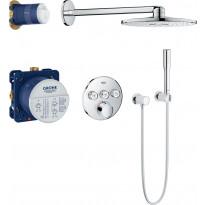 Sadesuihkusetti Grohe SmartControl + Rainshower Cosmopolitan 210, termostaattihanalla, piiloasennus