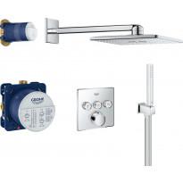 Sadesuihkusetti Grohe SmartControl + Rainshower 310 SmartActive Cube, termostaattihanalla, piiloasennus