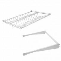 Ulosvedettävä kenkähylly Norscan Roller Wall System, M80, valkoinen