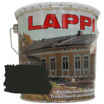 Ulkoöljymaali GVK Lappi, puolihimmeä, 2,7L, musta