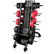 Säilytysteline Gymstick, 30 Pro Pump Setille