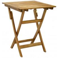 Pöytä Home4you Finlay, 60x60cm, taitettava, akaasia, ruskea