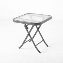 Pöytä Home4you Dublin, taitettava, 46x46cm, musta
