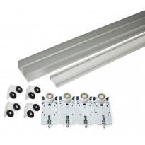 Liukuoven kisko Habo K-50, alumiini