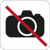 Valokuvaaminen kielletty -kyltti Habo, 80x80mm