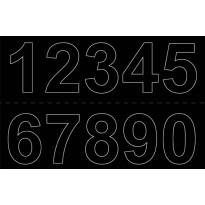 Numerosetti 0-9 Habo, 50mm, 2kpl, musta