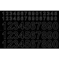 Numerosetti Habo, itsekiinnittyvä, 13/26mm, musta