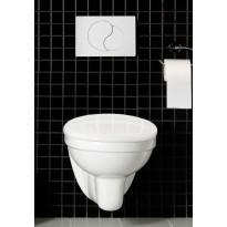 WC-ryhmä Hafa Wall seinä-WC + kansi + painike + huuhtelujärjestelmä, kromi