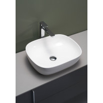 Malja-allas Hafa Soft 480x390x145 mm, posliini, valkoinen