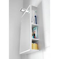 Peilisäilytin Hafa One 440, LED-valaistus + pistorasia, valkoinen matta