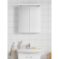 Peilikaappi Hafa Life 600, LED-valaistuksella ja pistorasialla, valkoinen, Verkkokaupan poistotuote