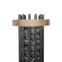 Valaistu suojakaide Harvia Glow HTRT3L, lämpökäsitelty haapa, Verkkokaupan poistotuote