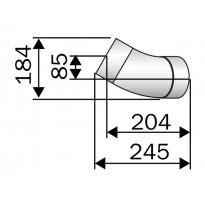 Harvia Kulmaputki 45 RST 115mm
