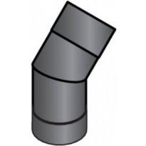 Harvia Kulmaputki 45-astetta Musta