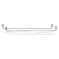 Paneelikoukku, rosteri, 46cm, 11-20mm
