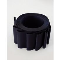 Lamelliverho 600x2500mm musta leveys 89mm x 8 kpl/pak