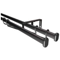 Paneelitankosetti, tupla, musta, 90-160cm