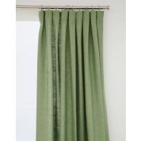 Sivuverho Hasta Lina, vihreä, 134x250cm