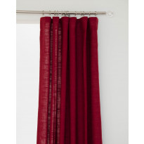 Sivuverho Hasta Lina, punainen, 134x250cm