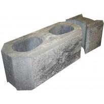 Vallikivipari HB-Betoni, 200x630x215mm, iso, mustaharmaa