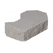 Kansikivi kulmaan HB-Betoni, oikea, 364x215x100mm, harmaa