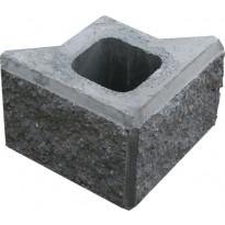 Vallikivi pylväs kulmakivi 280x280x200mm, musta