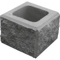 Vallikivi pylväs yläkivi 280x280x200mm, musta