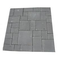 Roomalainen kivisarja 80mm, mix 7 kokoa, lava, harmaa
