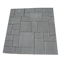 Roomalainen kivisarja 80mm, mix 7 kokoa, lava, musta