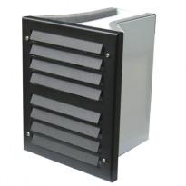 Vallivalaisin Ritilä, 160x198x190mm, LED 1,5W, musta