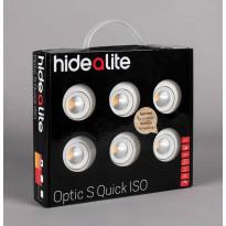 LED-alasvalosarja Hide-a-lite Optic Quick S ISO 6-pack, 3000K, valkoinen
