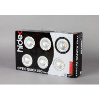 LED-alasvalosarja Hide-a-lite Optic Quick ISO, 6-pack, 3000K, valkoinen